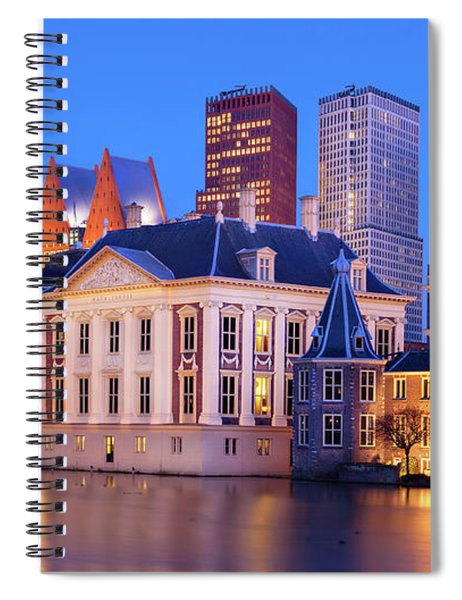 Spiral Notebook featuring the photograph Mauritshuis Museum At Blue Hour by Barry O Carroll