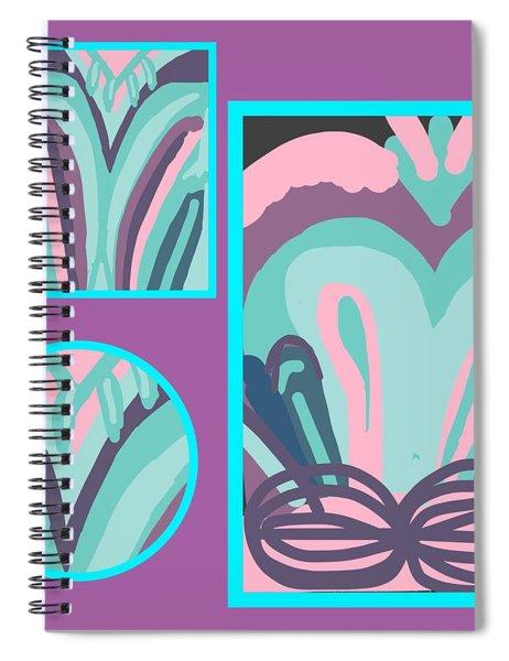 Mauve In Jazz 2 Spiral Notebook