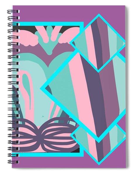 Mauve In Jazz Spiral Notebook