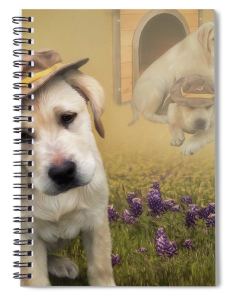 Maverick And Tori - Labrador Art Spiral Notebook