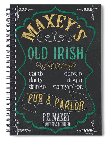 Maxey's Old Irish Pub Spiral Notebook