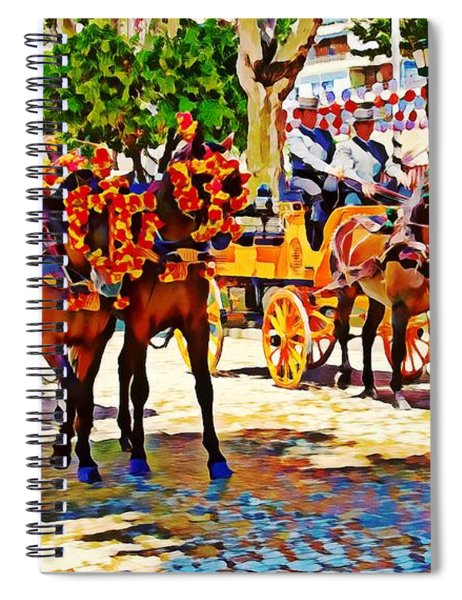 May Day Fair In Sevilla, Spain Spiral Notebook