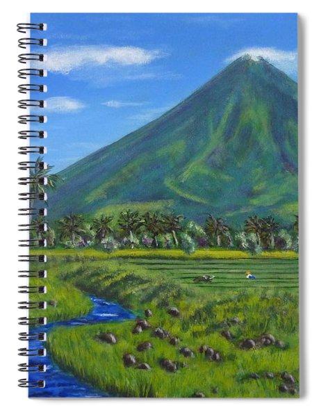 Mayon Volcano Spiral Notebook