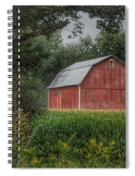 0027 - Mayville's Lapeer Road Red Spiral Notebook