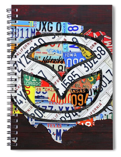 Mazda License Plate Map Of The Usa Spiral Notebook