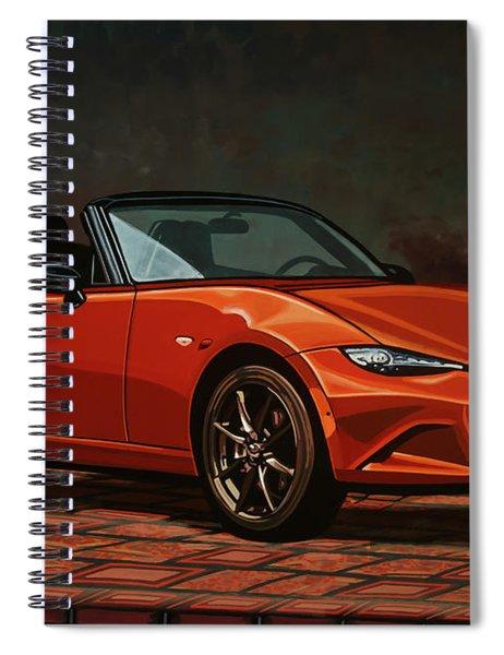 Mazda Mx-5 Miata 2015 Painting Spiral Notebook