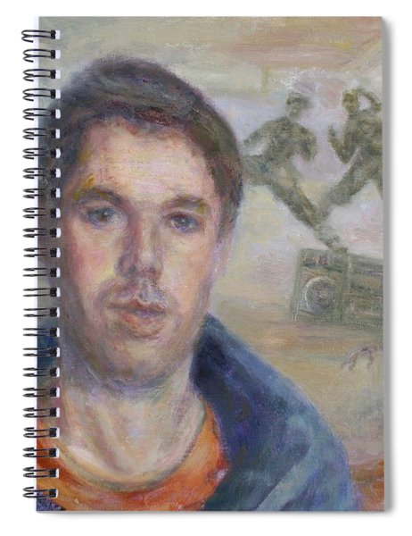 Mca Is My Ace - Adam Yauch Tribute Painting Spiral Notebook
