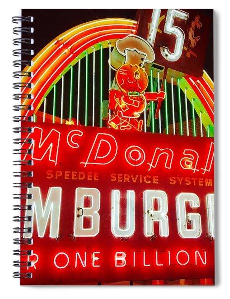 Mcdonald's Historical Neon Spiral Notebook
