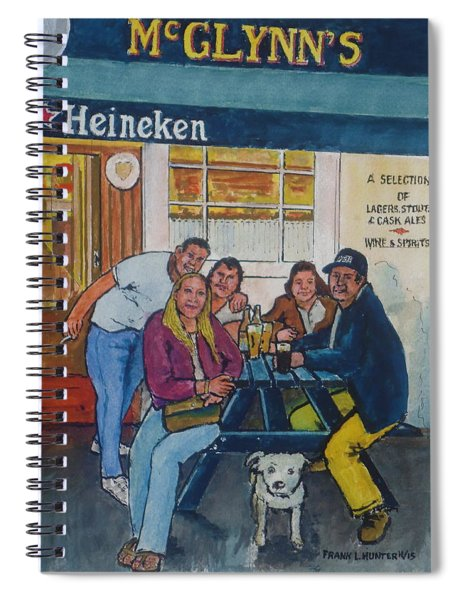 Amber At Mcglynn's Pub In London, England Spiral Notebook