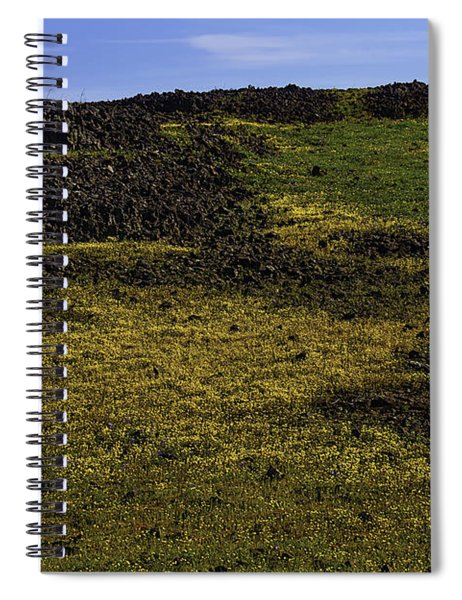 Meadow Of Golden Flowers Spiral Notebook