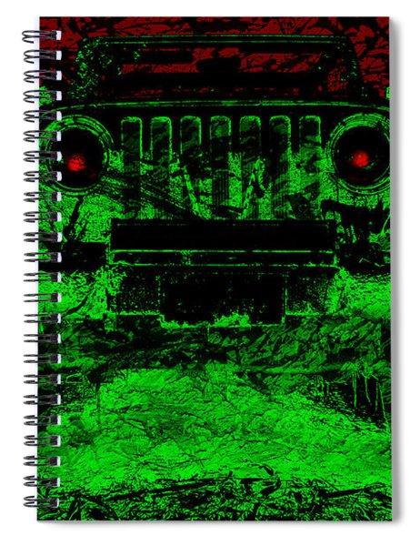 Mean Green Machine Spiral Notebook