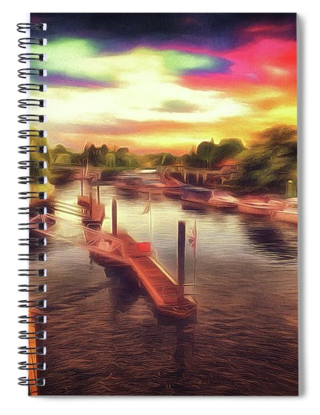 Meanwhile Back On The River Spiral Notebook