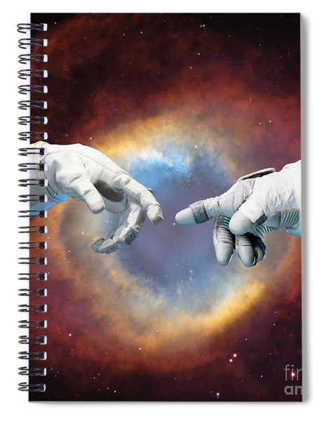 Meanwhile, In Space Spiral Notebook