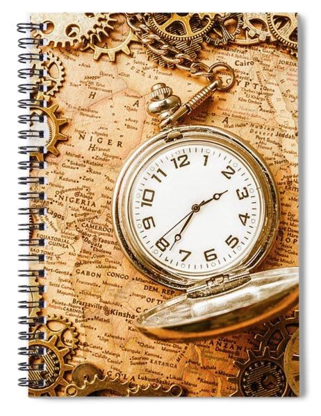 Mechanisms In Industrial Time Spiral Notebook