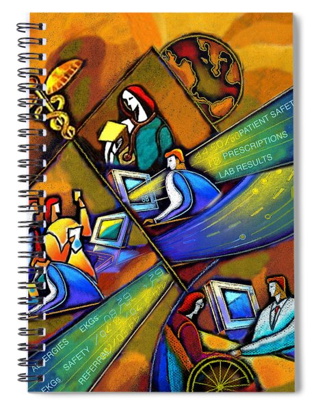Medicare And Information Technology Spiral Notebook