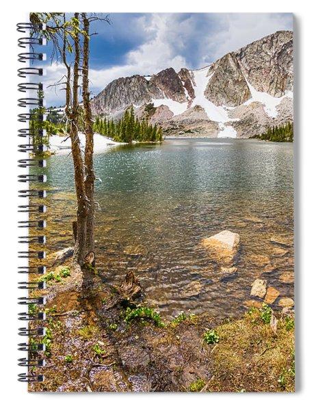 Medicine Bow Snowy Mountain Range Lake View Spiral Notebook