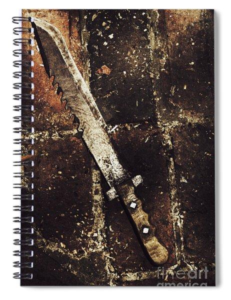 Medieval Blacksmith Sword Spiral Notebook