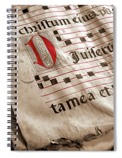 Medieval Choir Book Spiral Notebook