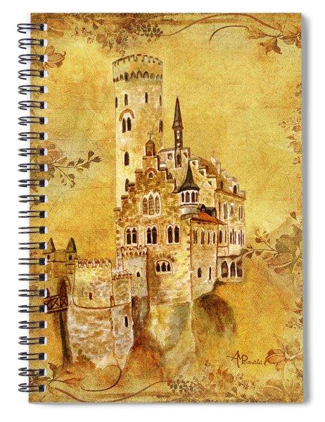 Medieval Golden Castle Spiral Notebook