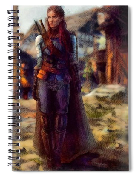 Medieval Lady Of Armor Spiral Notebook