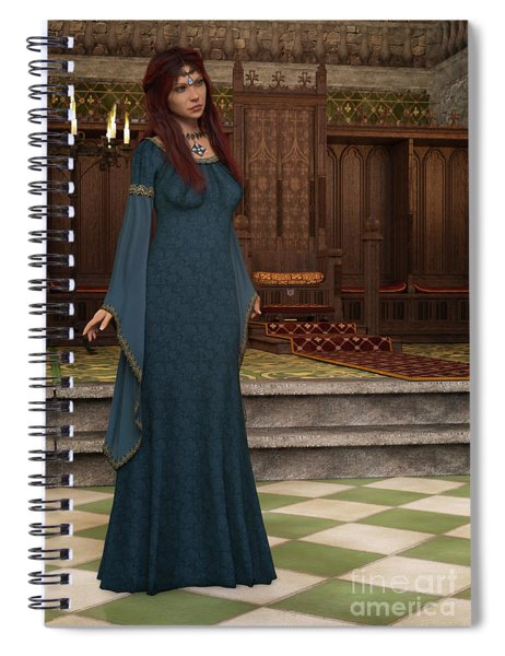 Medieval Queen Spiral Notebook