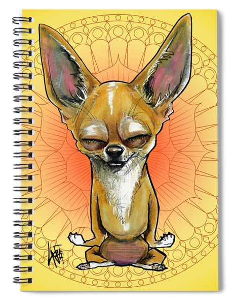 Meditating Chihuahua Spiral Notebook