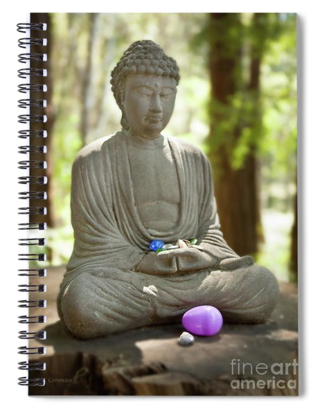 Meditation Buddha With Offerings Spiral Notebook