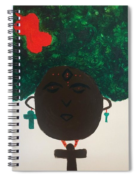 Meditation Queen  Spiral Notebook