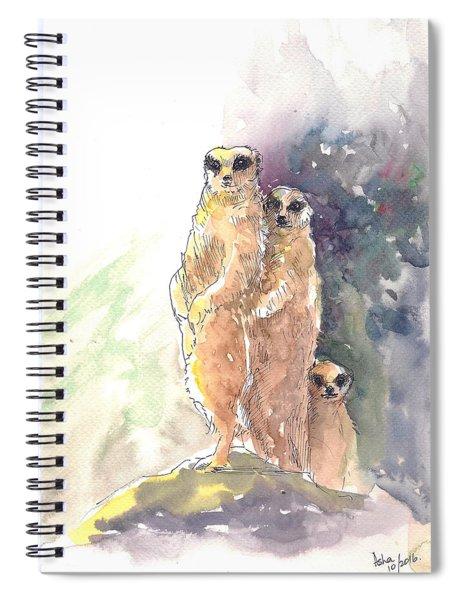 Meerkats On Watch Spiral Notebook