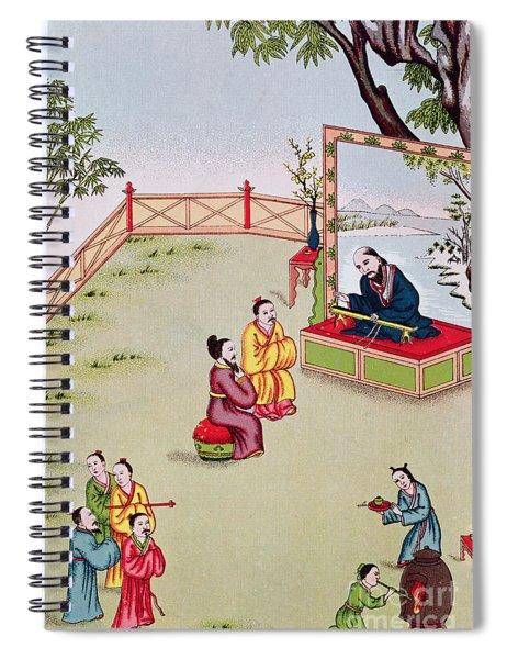 Meeting Between Confucius And Lao Tzu Spiral Notebook