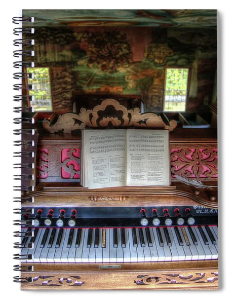 Meeting House Organ Spiral Notebook