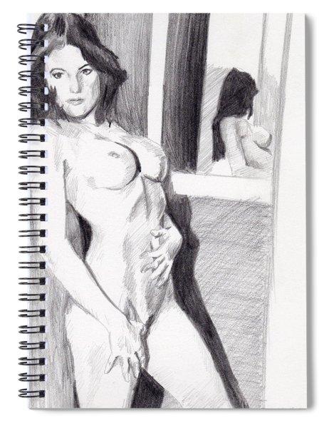 Megan-mirror Spiral Notebook