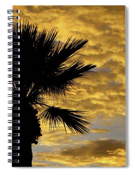 Mellow Yellow Sunset Spiral Notebook