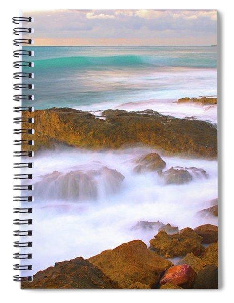 Melting Blue  Spiral Notebook