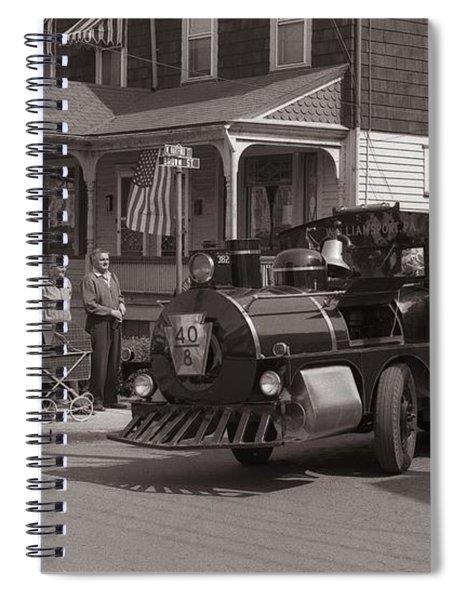Memorial Day Parade  Ashley Pa  Corner Of W Hartford And Brown  Circa 1965 Spiral Notebook