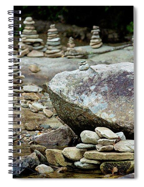 Memorial Stacked Stones Spiral Notebook