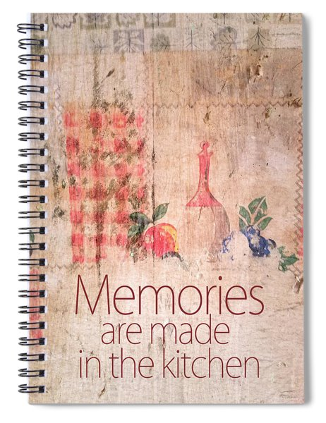 Memories Are Made In The Kitchen Spiral Notebook