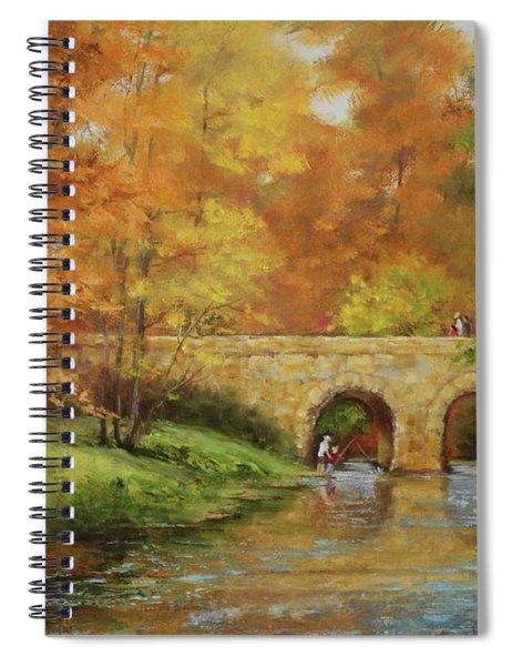 Memories At Stone Bridge Spiral Notebook