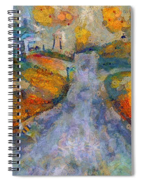 Memories Of Home In Autumn Spiral Notebook