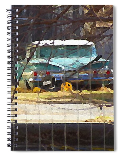 Memories Of Old Blue, A Car In Shantytown.  Spiral Notebook