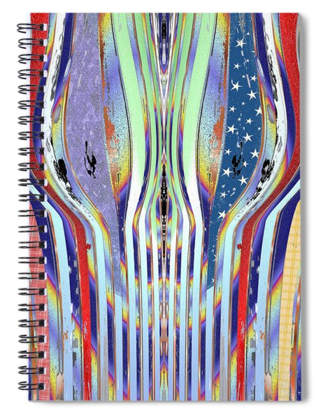 Spiral Notebook featuring the digital art Memory 2139 by Brian Gryphon
