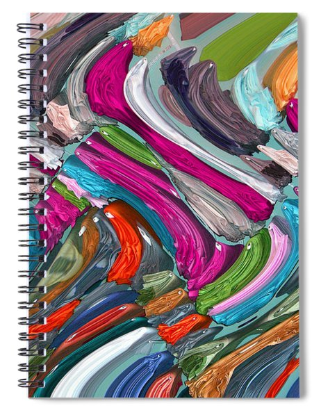 Spiral Notebook featuring the digital art Memory 2251 by Brian Gryphon