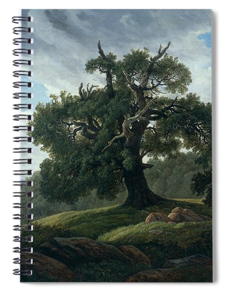 Memory Of A Wooded Island In The Baltic Sea Spiral Notebook