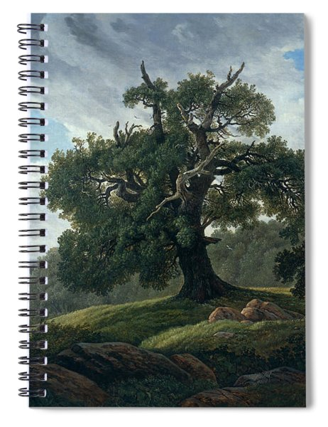 Memory Of A Wooded Island In The Baltic Sea. Oak Trees By The Sea  Spiral Notebook