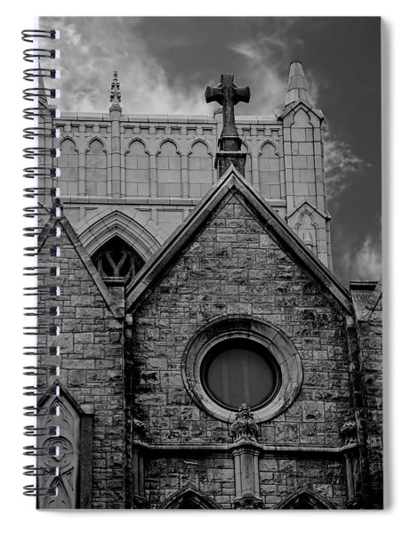 Memphis Cross In The Clouds Bw Spiral Notebook