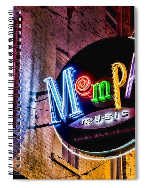 Memphis Music Spiral Notebook