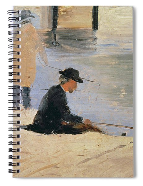 Men Fishing From A Jetty Spiral Notebook