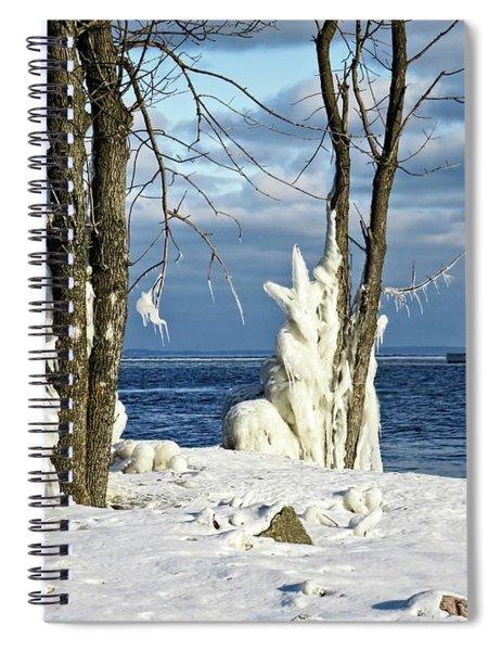 Menominee Lighthouse Ice Sculptures Spiral Notebook