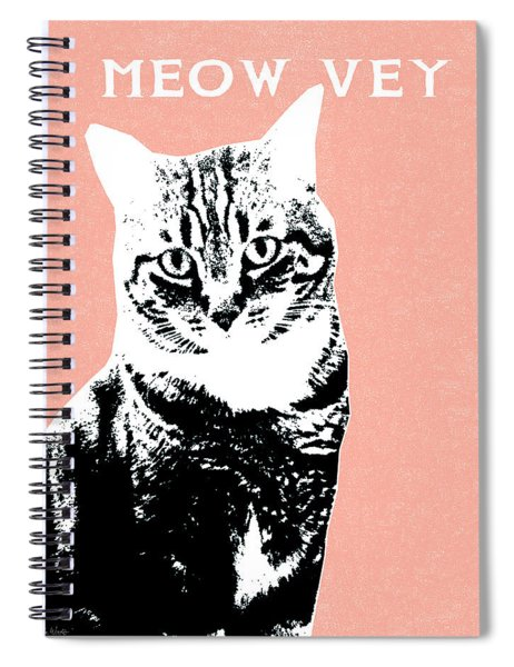 Meow Vey- Art By Linda Woods Spiral Notebook