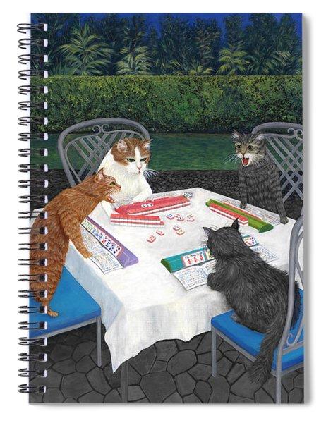 Meowjongg - Cats Playing Mahjongg Spiral Notebook